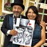 Caricatura matrimonio - events caricaturist - Federico Cecchin caricaturista