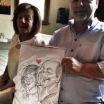 Caricatura matrimonio - events caricaturist - Federico cecchin